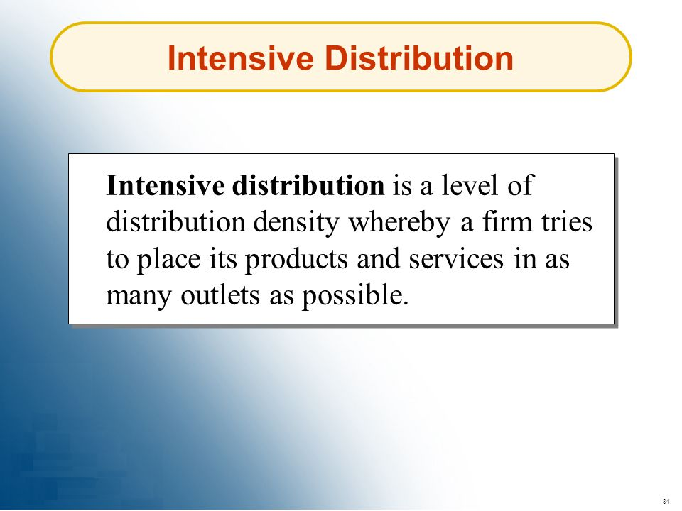 Intensive Distribution