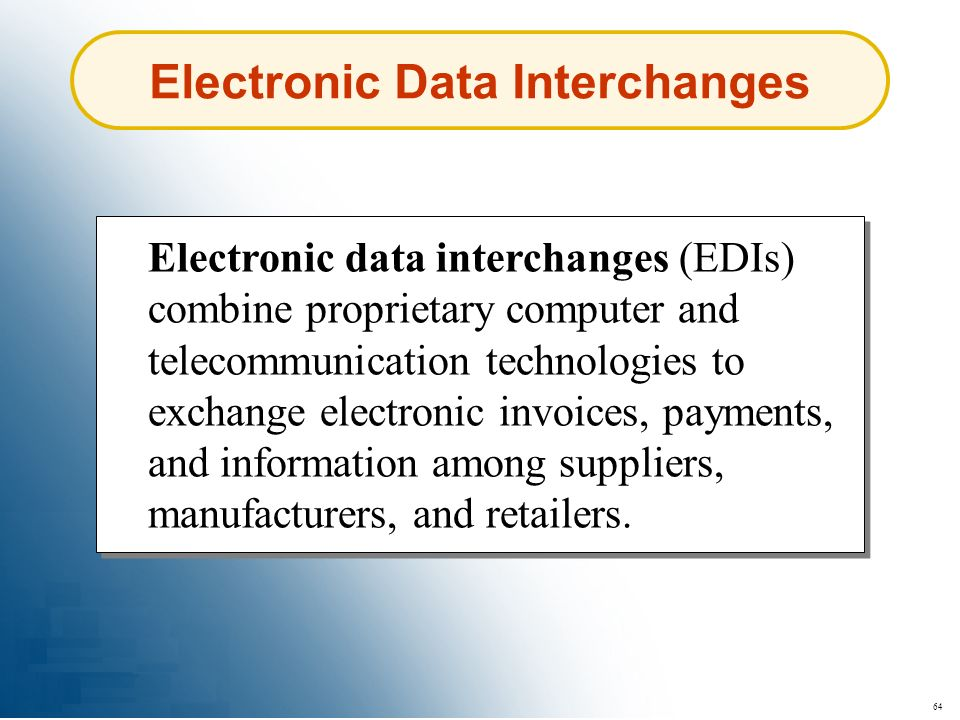 Electronic Data Interchanges