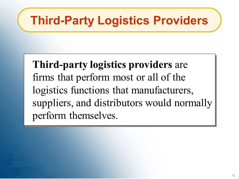 Third-Party Logistics Providers