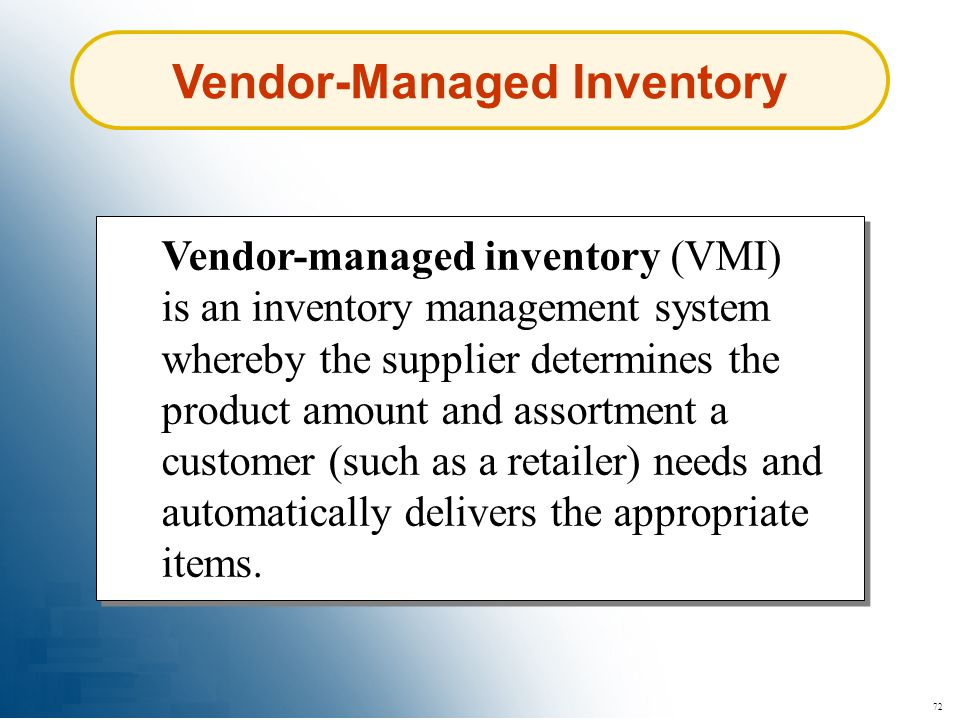 Vendor-Managed Inventory