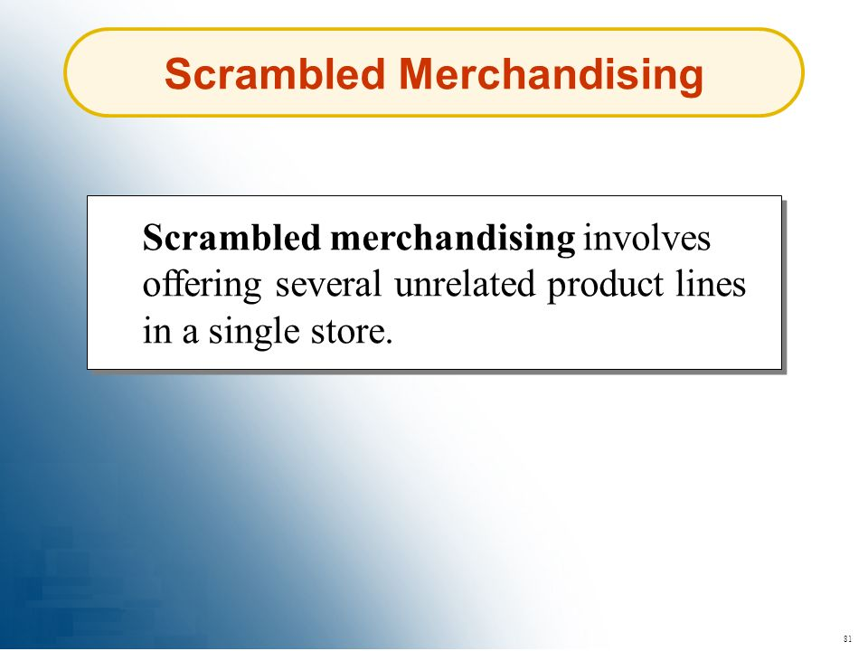 Scrambled Merchandising