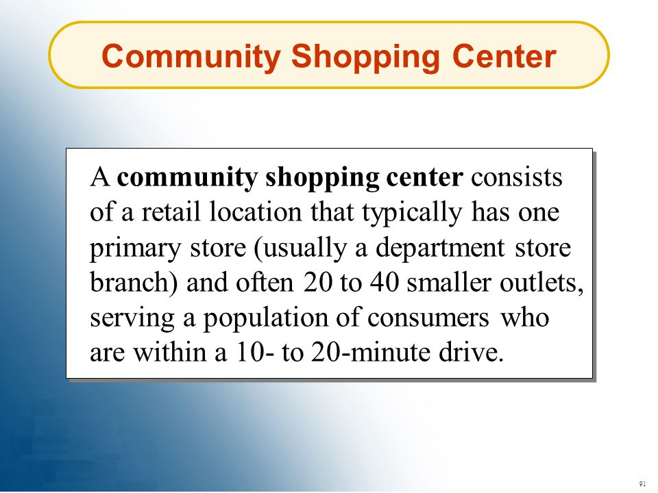 Community Shopping Center