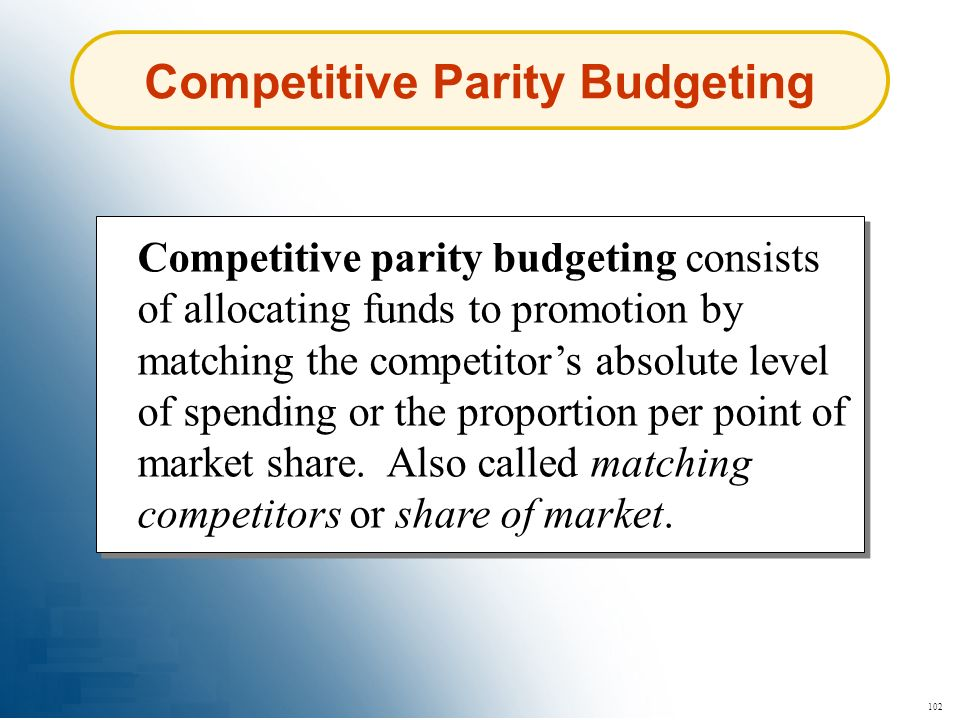 Competitive Parity Budgeting