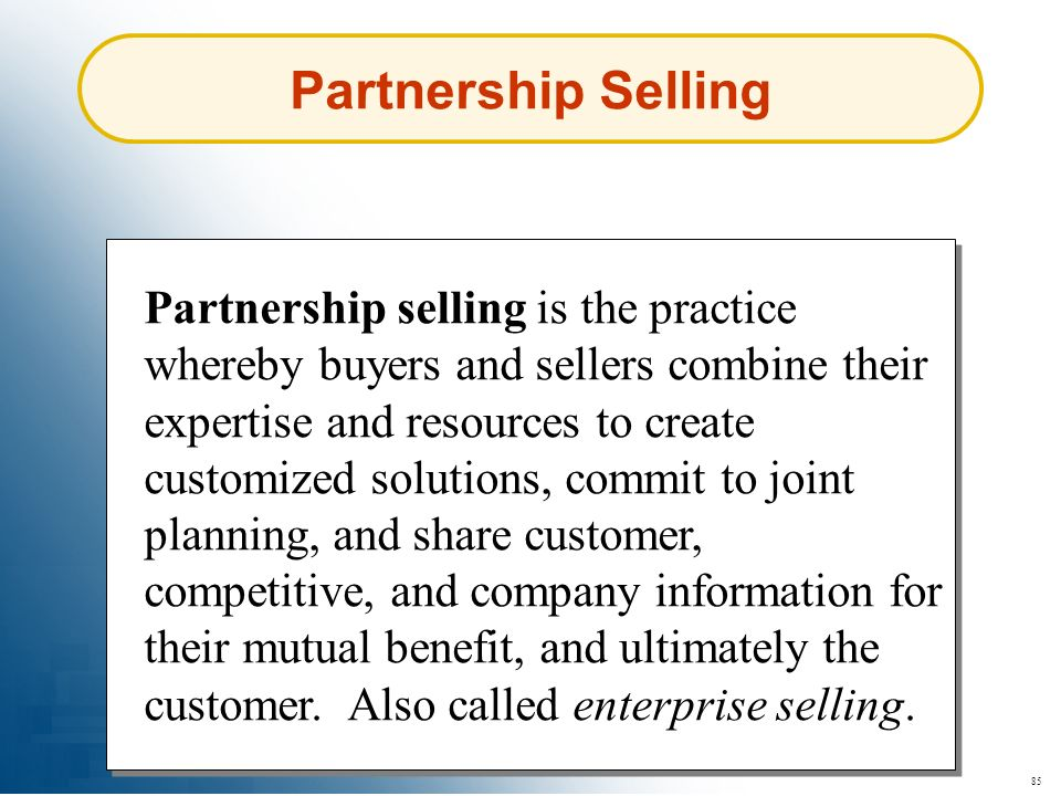 Partnership Selling