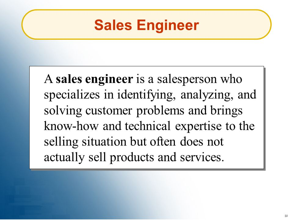 Sales Engineer