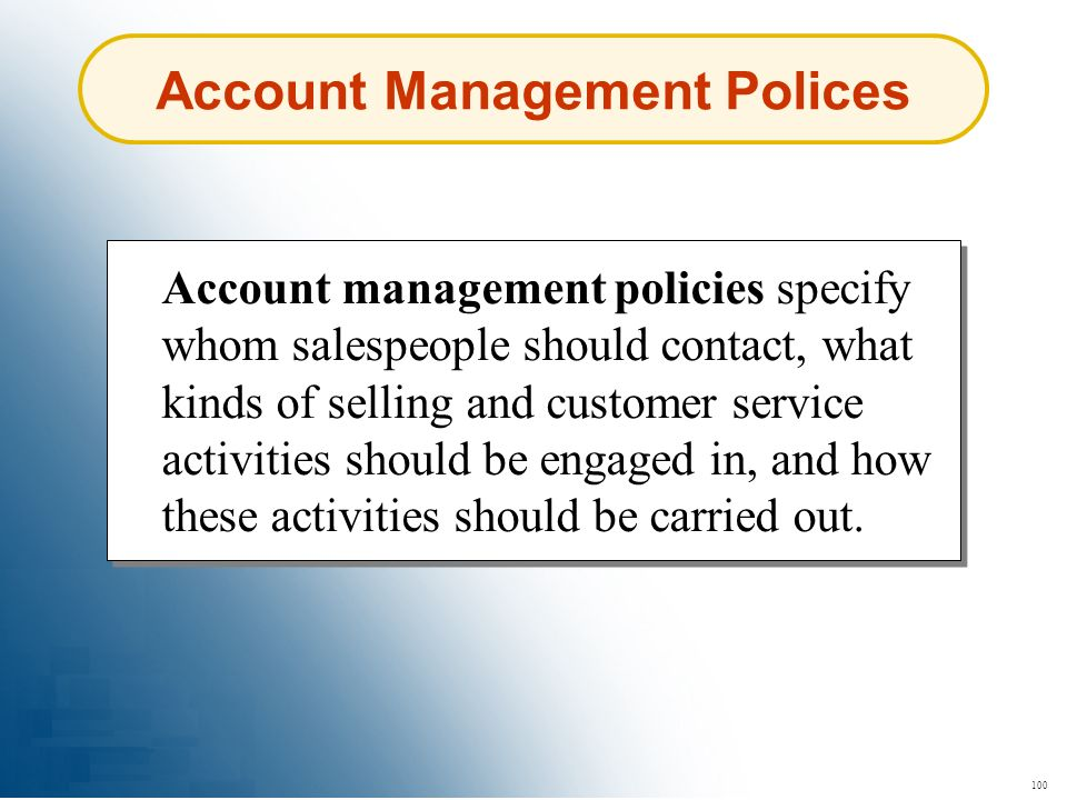 Account Management Polices