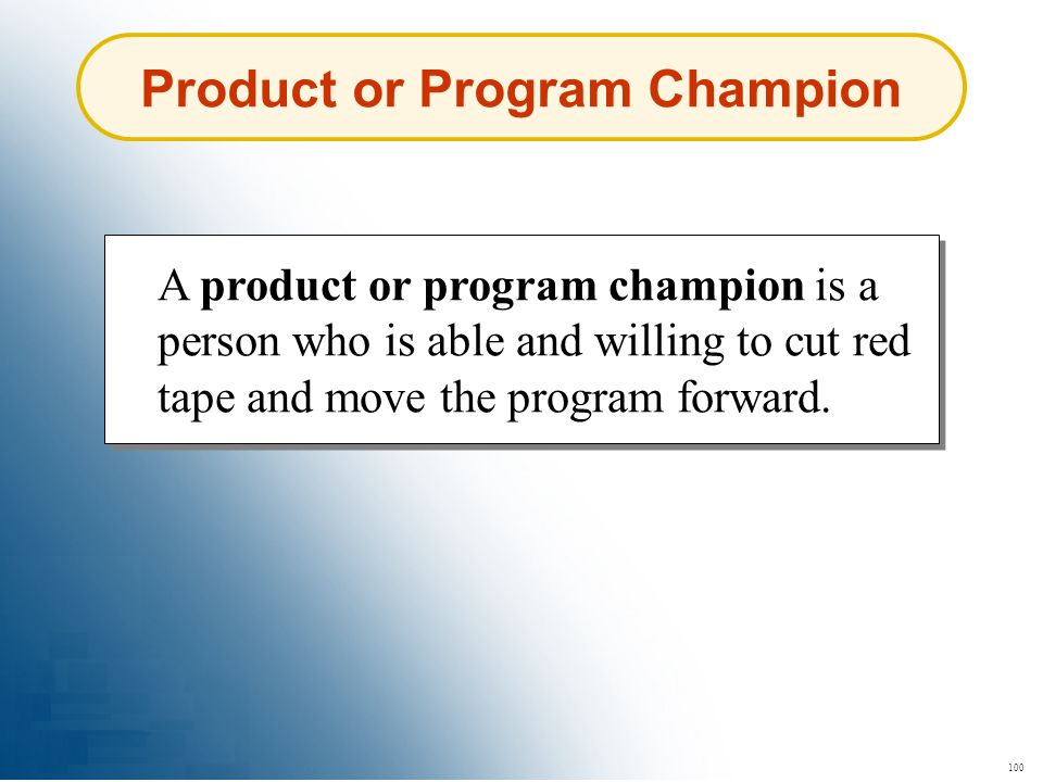 Product or Program Champion