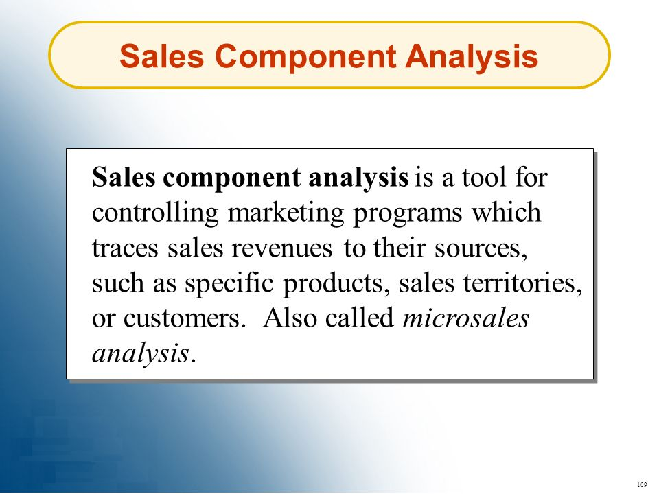 Sales Component Analysis