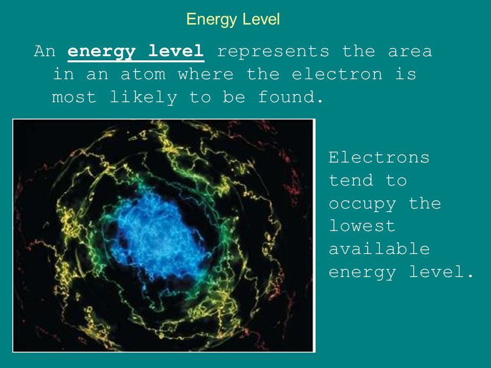 Electrons tend to occupy the lowest available energy level.