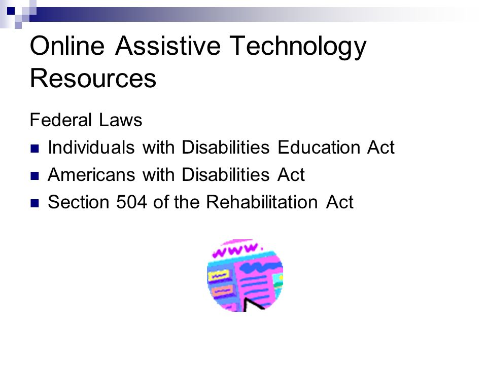 Online Assistive Technology Resources