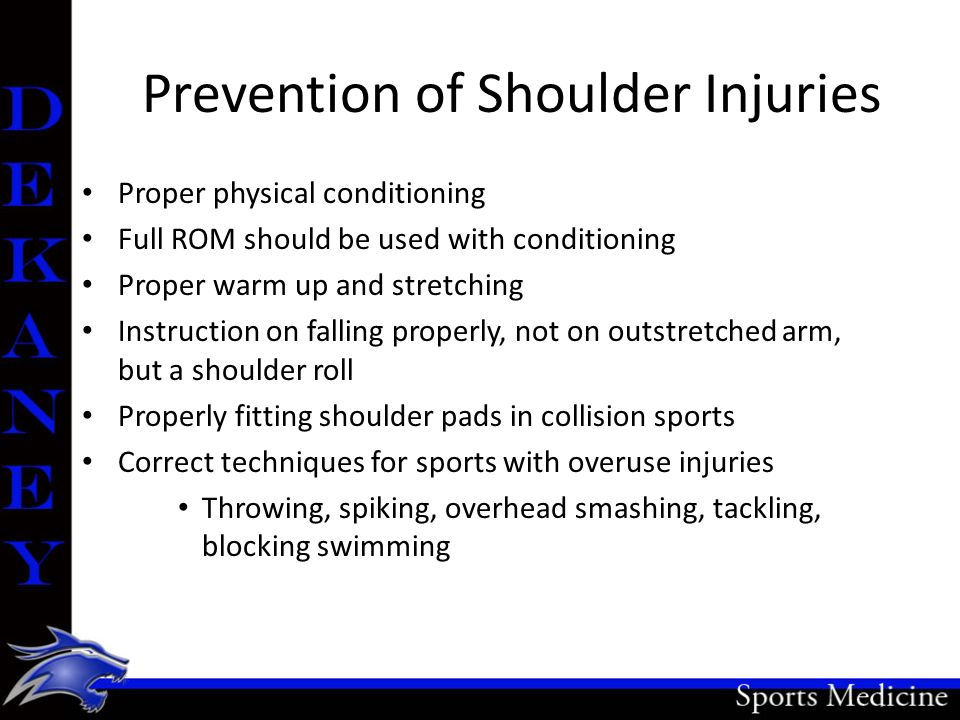 Prevention of Shoulder Injuries