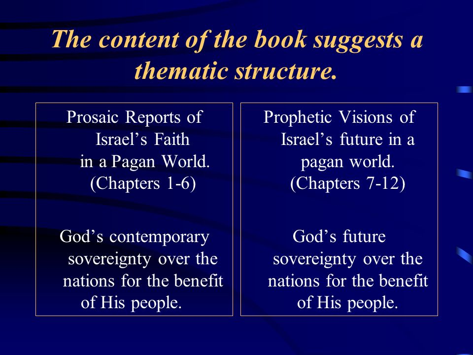 The content of the book suggests a thematic structure.