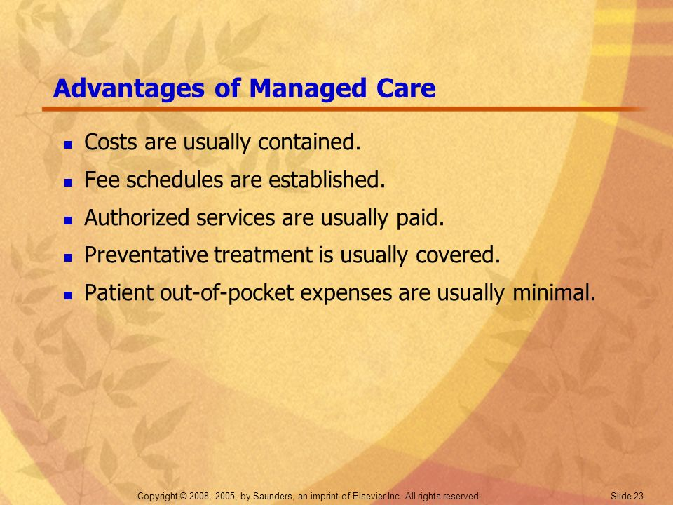 Advantages of Managed Care