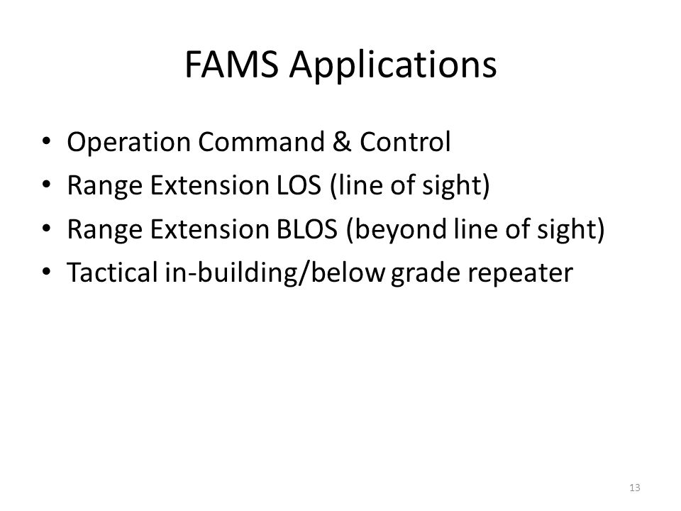 FAMS Applications Operation Command & Control