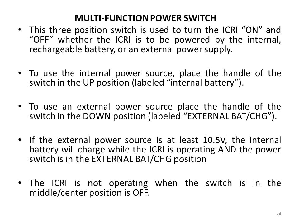 MULTI-FUNCTION POWER SWITCH