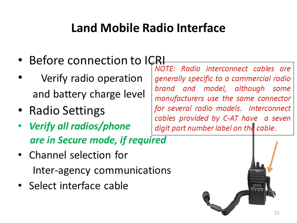 Land Mobile Radio Interface