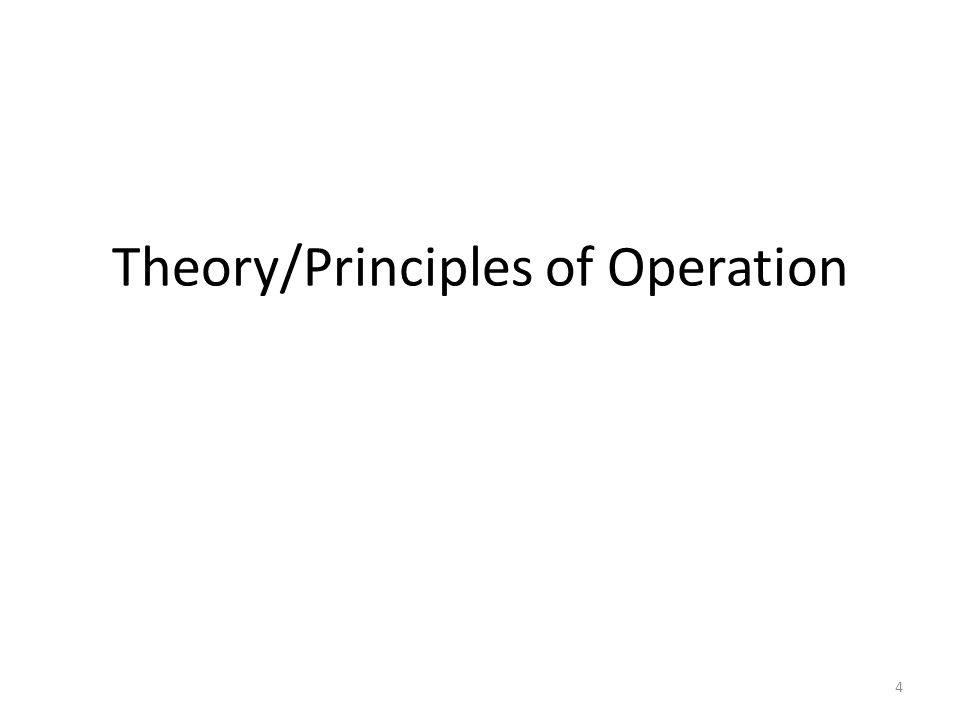 Theory/Principles of Operation