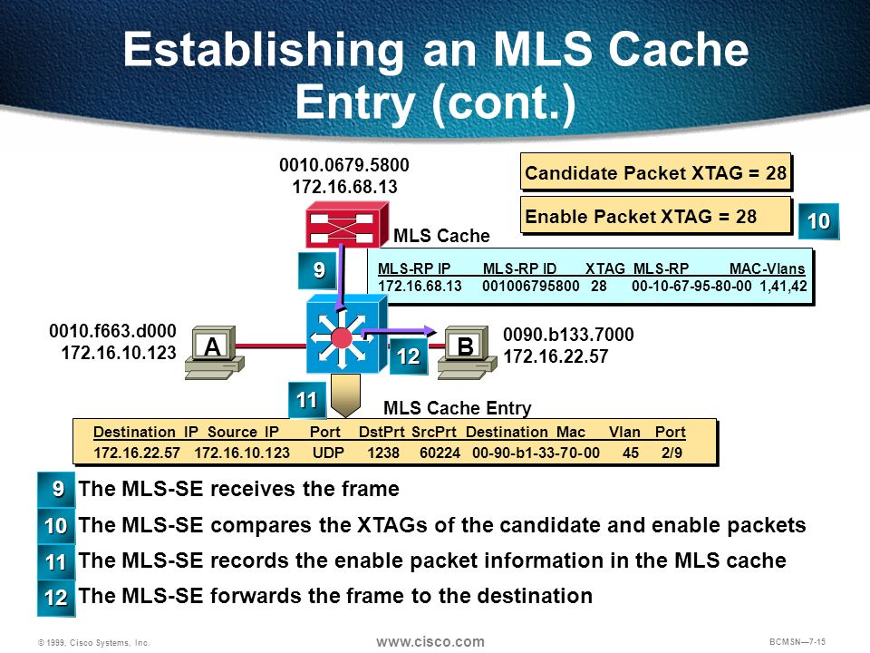 Establishing an MLS Cache Entry (cont.)