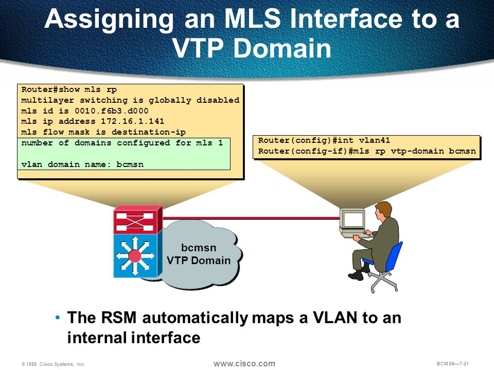 Assigning an MLS Interface to a VTP Domain