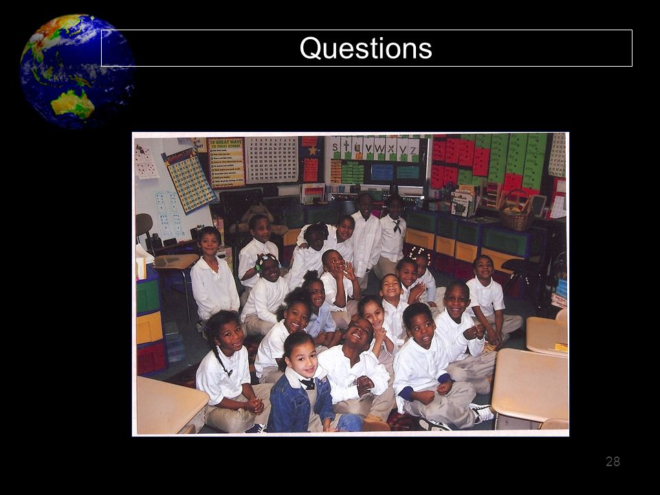 Questions 28 We would like to thank our community partners – CUSD.
