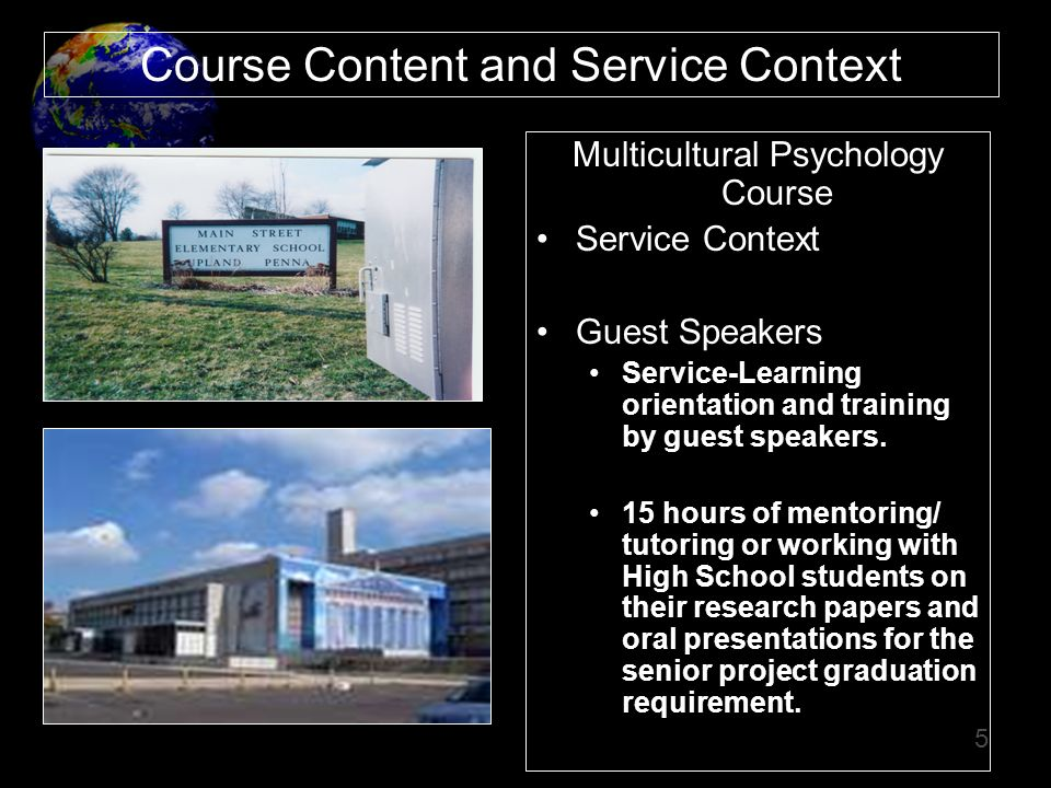 Course Content and Service Context