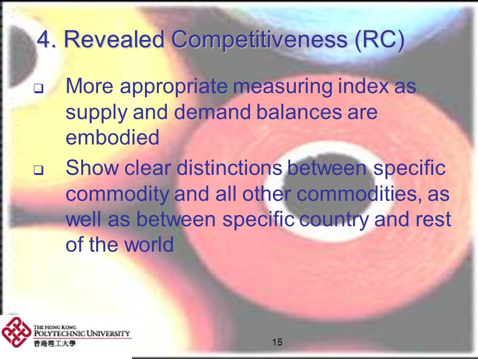 4. Revealed Competitiveness (RC)