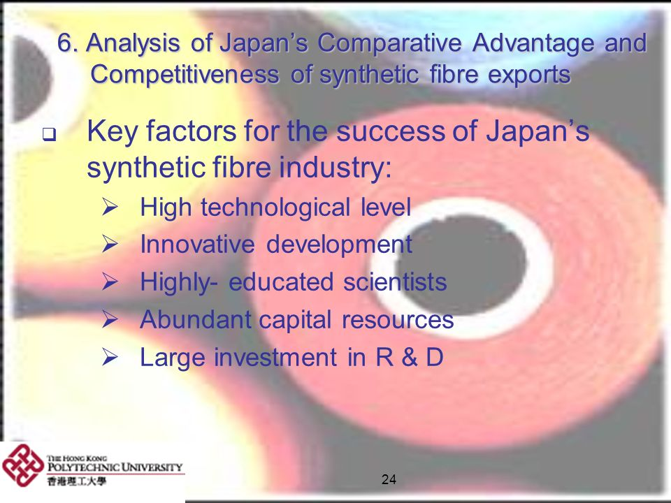 Key factors for the success of Japan's synthetic fibre industry: