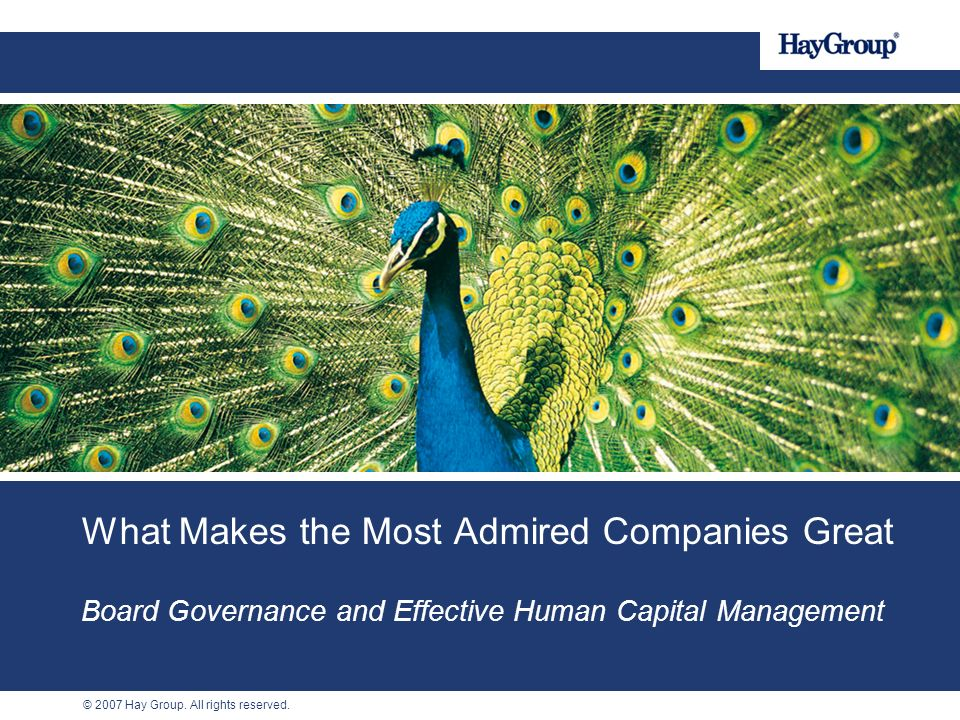 What Makes the Most Admired Companies Great