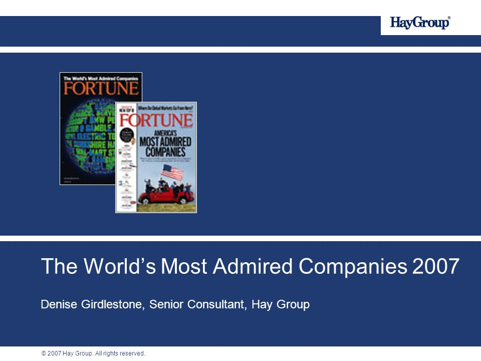The World's Most Admired Companies 2007