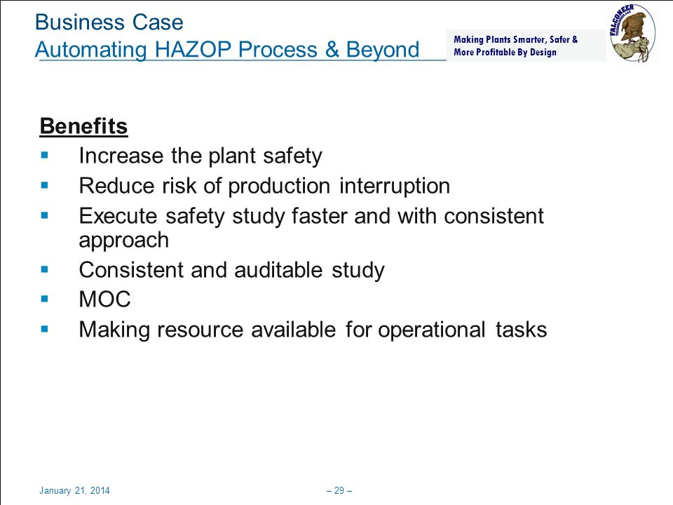 Business Case Automating HAZOP Process & Beyond
