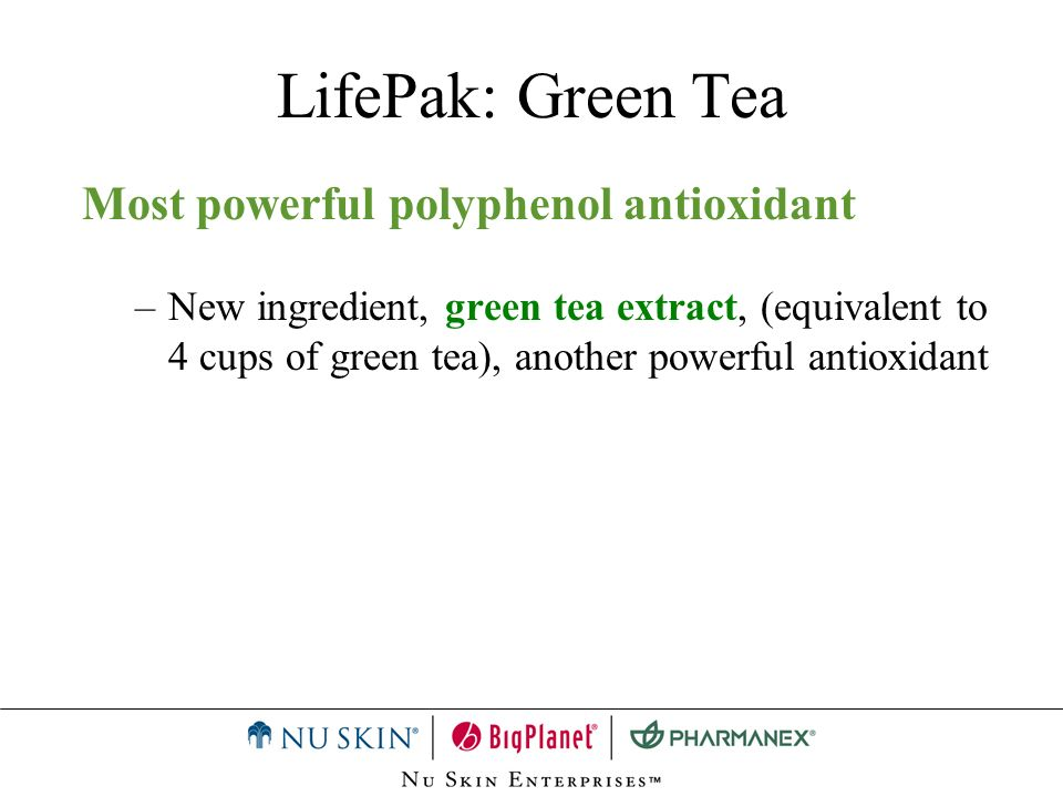 LifePak: Green Tea Most powerful polyphenol antioxidant