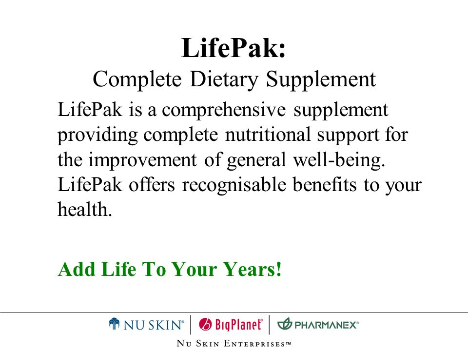 LifePak: Complete Dietary Supplement