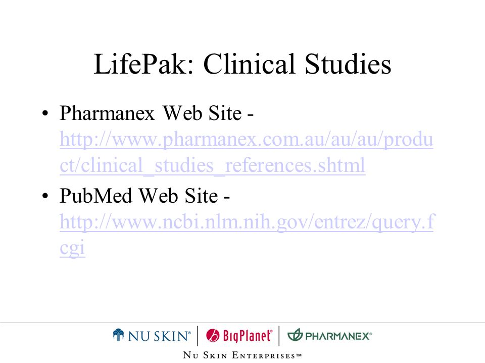 LifePak: Clinical Studies
