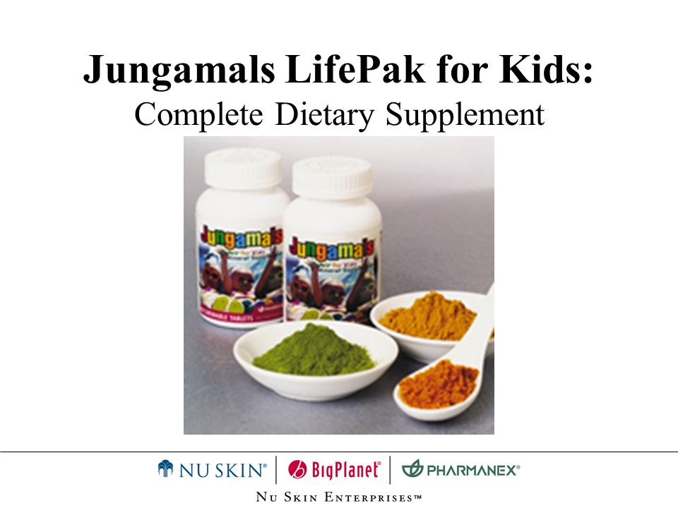 Jungamals LifePak for Kids: Complete Dietary Supplement