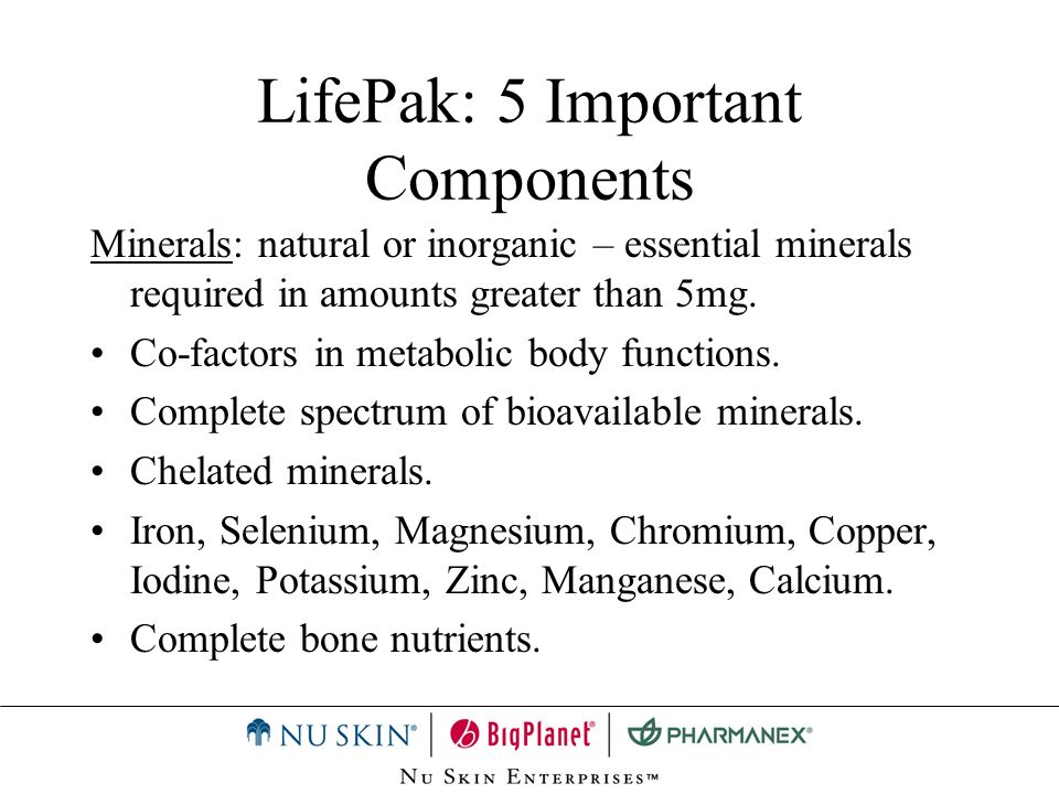 LifePak: 5 Important Components