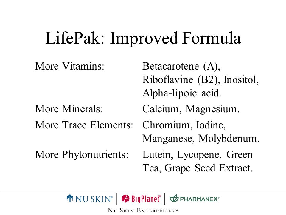 LifePak: Improved Formula