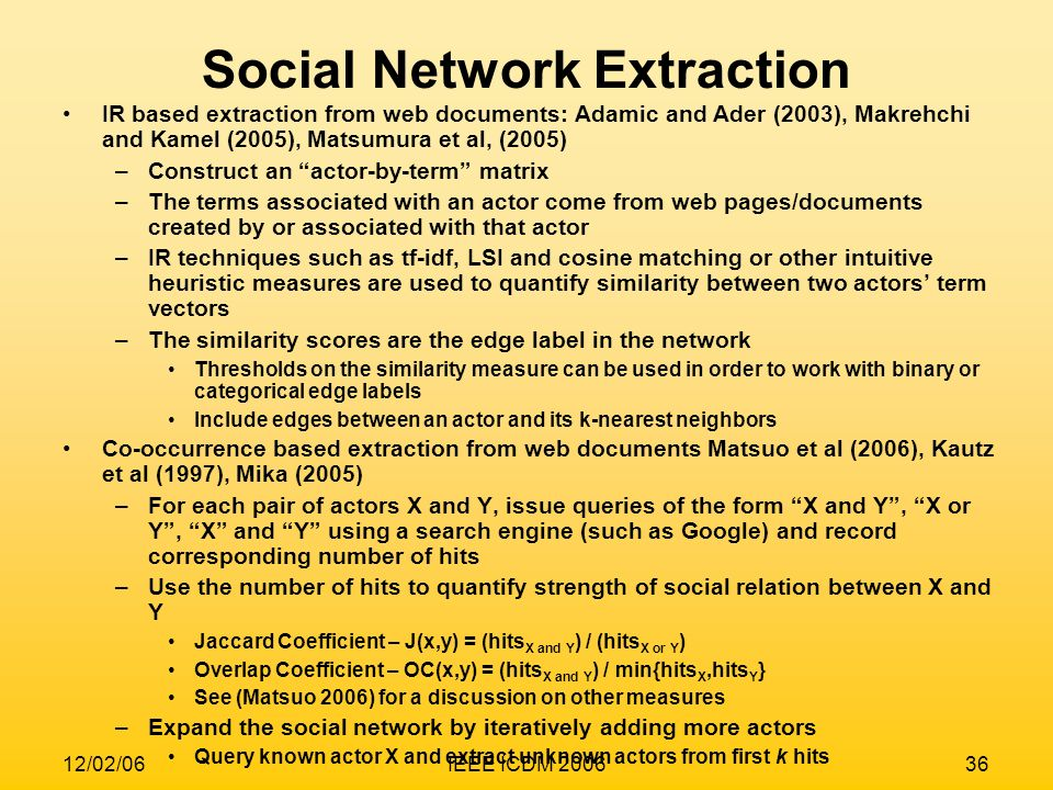 Social Network Extraction