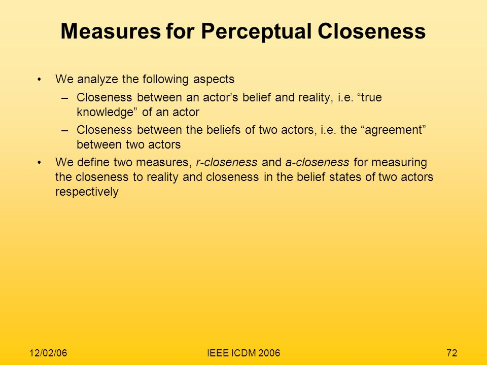 Measures for Perceptual Closeness
