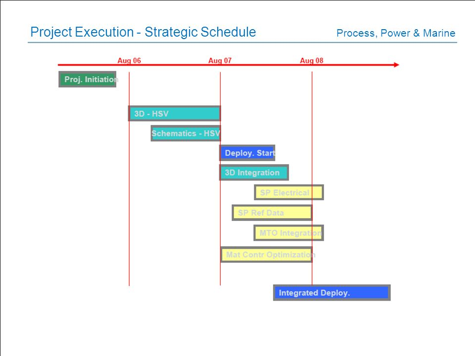 Project Execution - Strategic Schedule