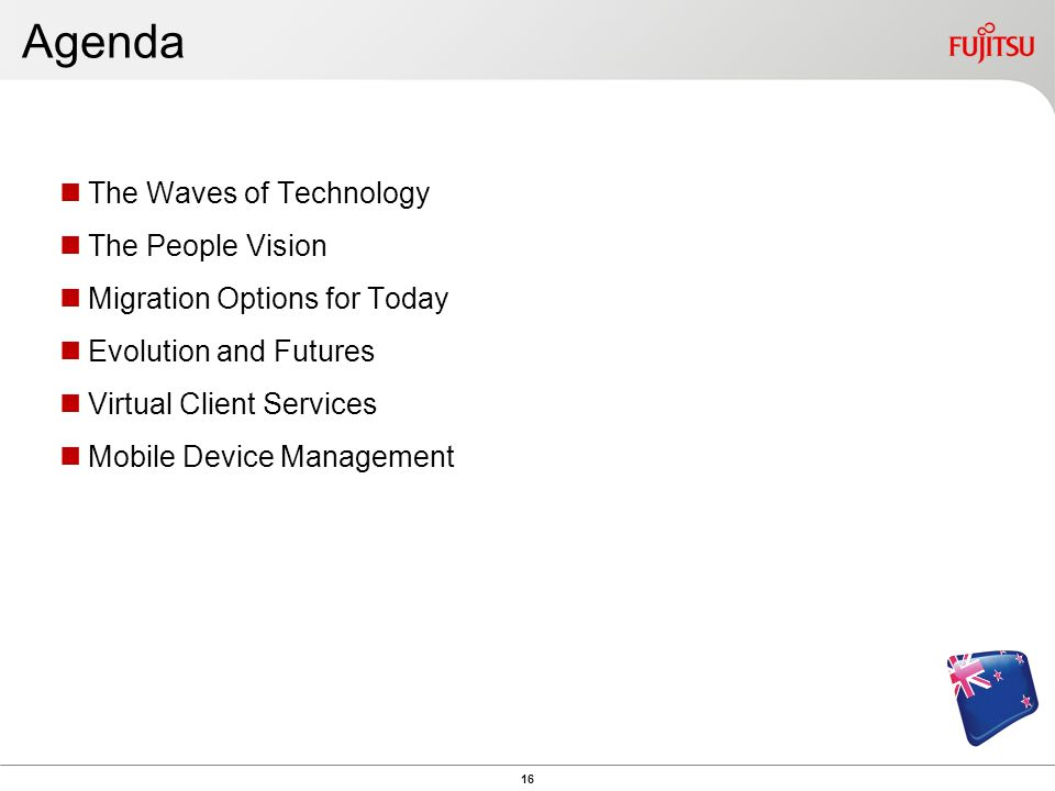 Agenda The Waves of Technology The People Vision