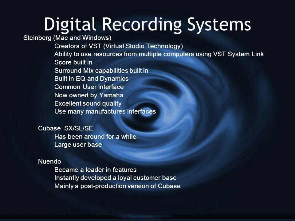 Digital Recording Systems