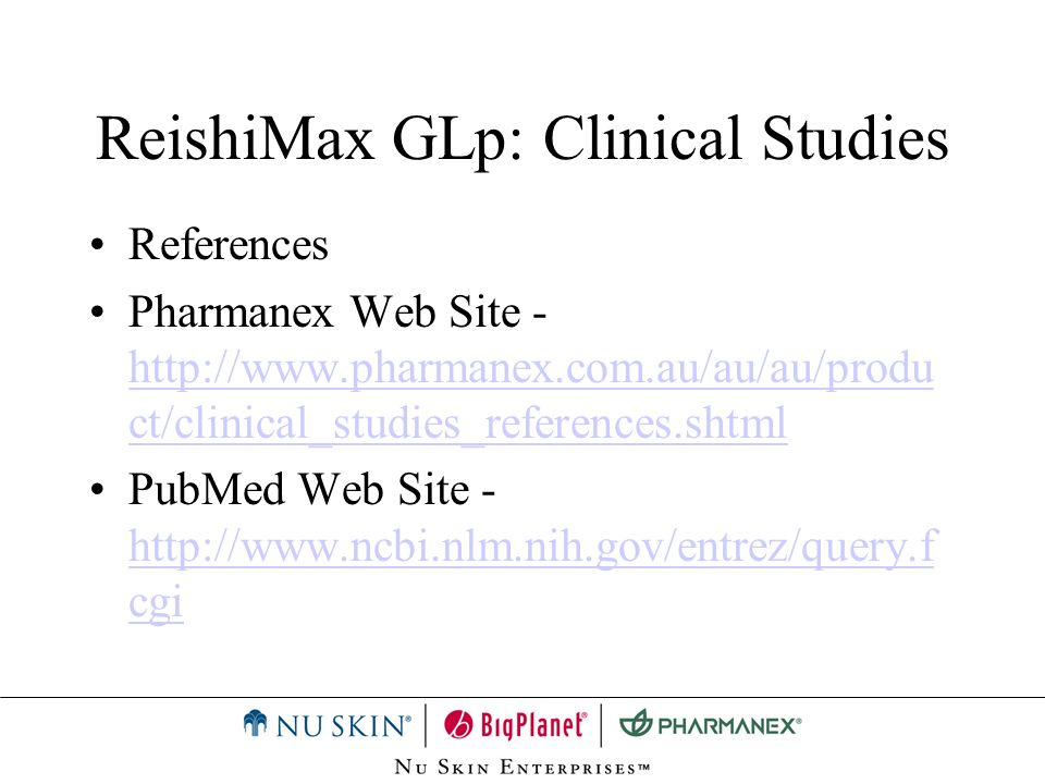 ReishiMax GLp: Clinical Studies