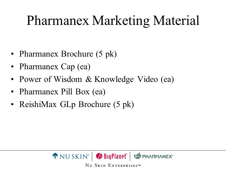 Pharmanex Marketing Material