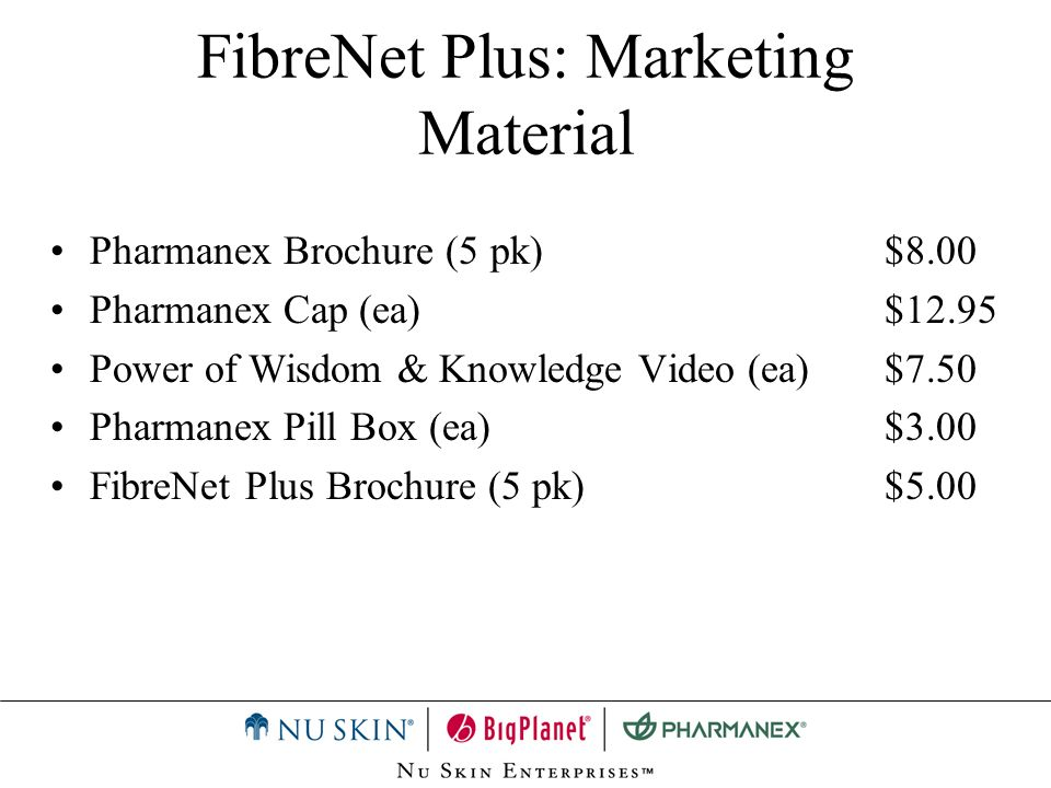 FibreNet Plus: Marketing Material