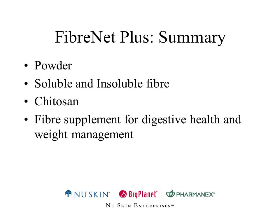 FibreNet Plus: Summary
