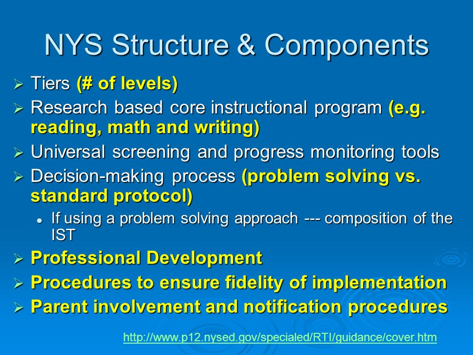 NYS Structure & Components