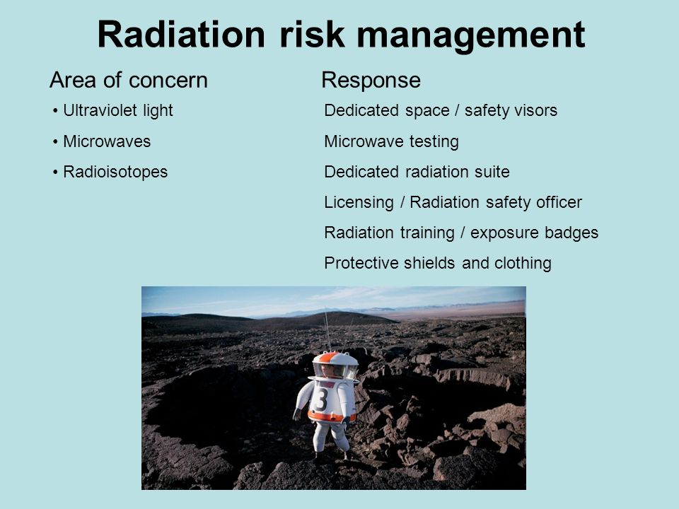 Radiation risk management
