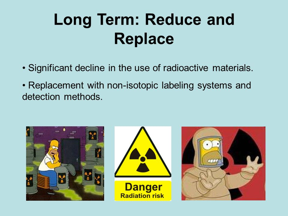 Long Term: Reduce and Replace