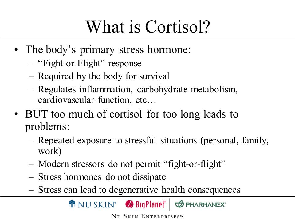 What is Cortisol The body's primary stress hormone: