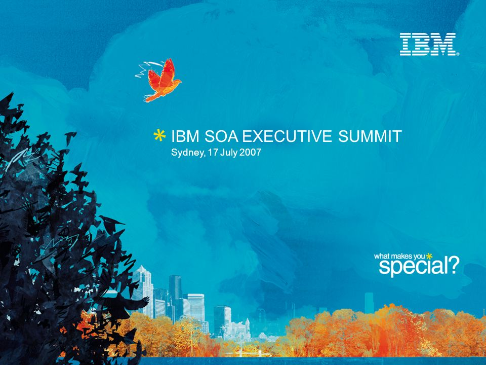 IBM SOA EXECUTIVE SUMMIT